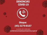 Canal de Denúncias/Dúvidas  Covid-19
